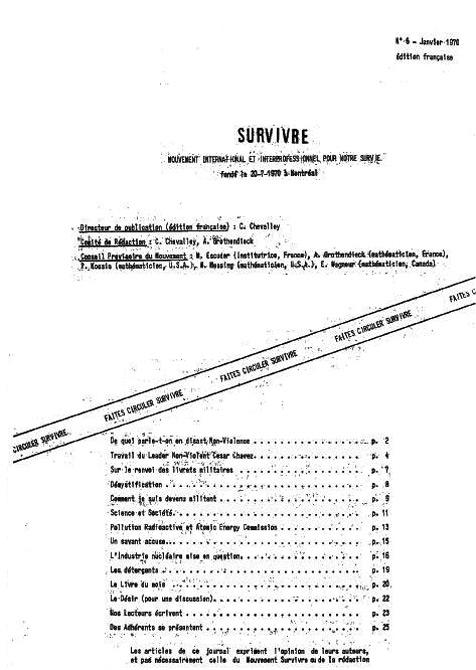Survivre n° 6
