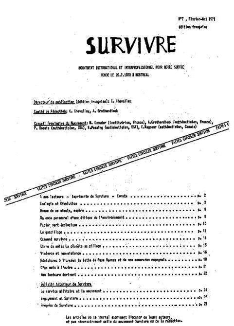 Survivre n° 7